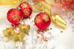 Velas del fondo/del día de fiesta de la Navidad Imagen de archivo