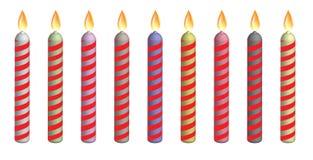 Velas do aniversário Imagem de Stock