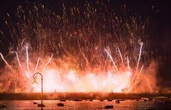 Velas do crimson do festival. imagem de stock royalty free