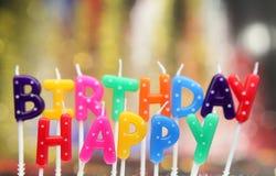 Velas do feliz aniversario Imagens de Stock