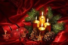 Velas do Natal Foto de Stock Royalty Free