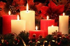 Velas do Natal fotografia de stock