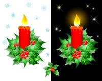 Velas do Natal. ilustração royalty free