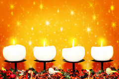 Velas do Natal Fotografia de Stock Royalty Free