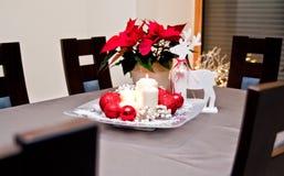 Velas do Natal da tabela decoration Imagem de Stock