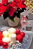 Velas do Natal da tabela decoration Foto de Stock