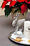 Velas do Natal da tabela decoration Imagens de Stock