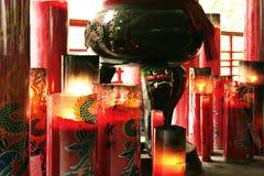Velas do templo budista Fotos de Stock Royalty Free