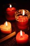 Velas do Valentim Imagens de Stock