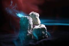 Velas e fumo derretidos Fotos de Stock