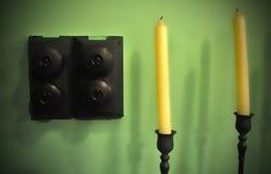 Velas e interruptores Foto de Stock Royalty Free