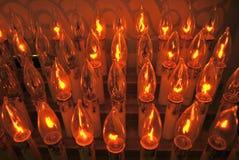 Velas eléctricas Imagen de archivo libre de regalías