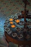 Velas em Chuch Fotografia de Stock Royalty Free