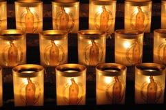 Velas em Notre Dame Cathedral Fotografia de Stock Royalty Free