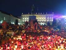 Velas em Varsóvia (palácio presidencial) imagem de stock
