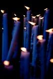 Velas en el altar Imágenes de archivo libres de regalías