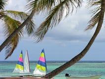 Velas en el mar del Caribe Fotografía de archivo libre de regalías