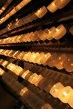 Velas en iglesia Fotos de archivo libres de regalías