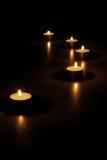Velas en la noche Foto de archivo libre de regalías