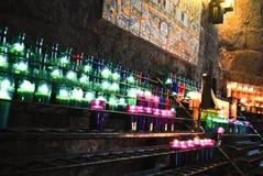 Velas en Montserrat Fotos de archivo