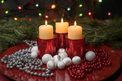 Velas festivas Imagens de Stock Royalty Free