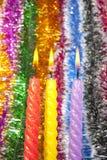 Velas illuminadas de la Navidad Fotografía de archivo libre de regalías