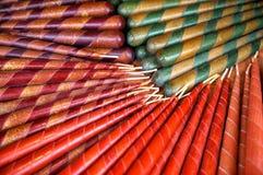 Velas listradas Handmade Foto de Stock
