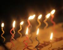 Velas locas de la torta Foto de archivo libre de regalías