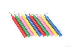 velas múltiplas da cor. Fotografia de Stock