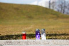 Velas memoráveis da queimadura Fotografia de Stock Royalty Free