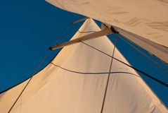 Velas no vento Fotografia de Stock Royalty Free