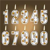 Velas numéricas del cumpleaños del baloncesto libre illustration