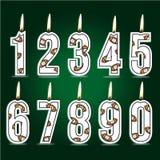 Velas numéricas del cumpleaños del rugbi libre illustration