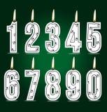Velas numéricas del fútbol stock de ilustración
