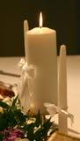 Velas para a cerimónia de casamento Imagem de Stock