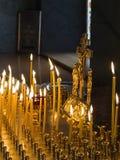 Velas para los muertos Imagen de archivo libre de regalías