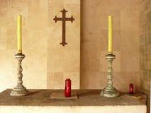 Velas religiosas Fotografía de archivo libre de regalías