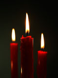 Velas rojas Imagen de archivo