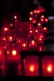 Velas rojas Fotografía de archivo libre de regalías