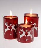 Velas rojas Imagen de archivo libre de regalías
