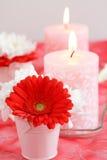 Velas románticas Imagen de archivo libre de regalías