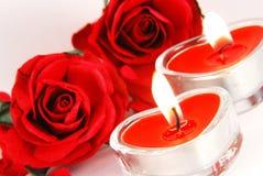 Velas románticas Fotografía de archivo libre de regalías