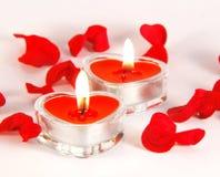 Velas románticas Foto de archivo