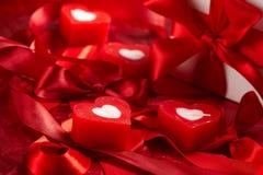 Velas românticas imagens de stock