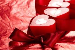 Velas românticas fotografia de stock royalty free