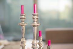 Velas rosadas Foto de archivo libre de regalías