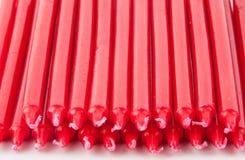 Velas vermelhas Imagem de Stock Royalty Free
