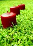 Velas vermelhas Imagens de Stock