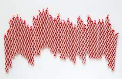 Velas vermelhas do aniversário Fotos de Stock Royalty Free