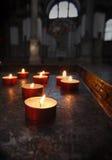 Velas votivas Imagen de archivo libre de regalías